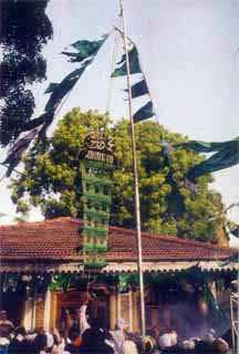Flag-hoisting at Kataragama