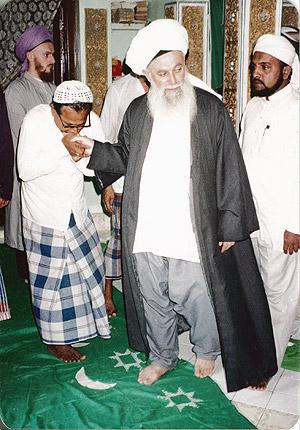 Sheikh Nazim Adil al-Haqqani in Khizr Maqām